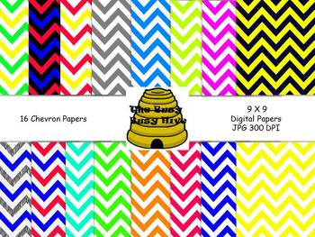 Chevron Papers {16 backgrounds for personal & commercial use}
