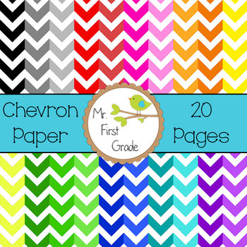 Chevron Papers [20 Images for Commercial Use]