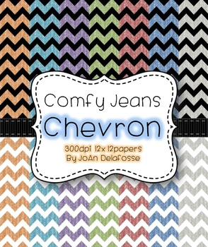 Chevron Papers in Comfy Jean Texture 14 Comfy Colors at 300dpi