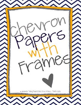 Chevron Papers with Frames