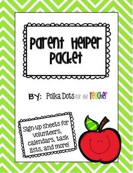 Chevron Parent Helper Packet