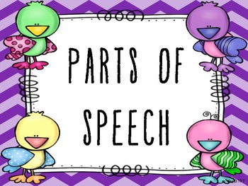 Chevron Parts of Speech Posters