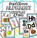 Chevron Pastel Alphabet Display Posters - Victorian Modern