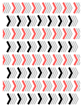 Chevron Pattern Digital Paper (Coral)