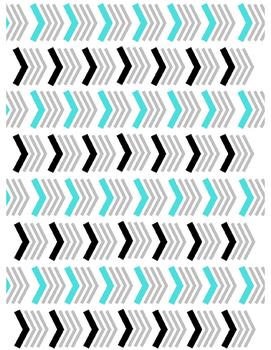 Chevron Pattern Digital Paper (Teal)