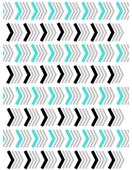 Chevron Pattern Digital Paper (Teal)