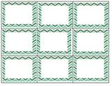 Chevron Pattern Labels