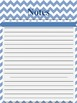 Chevron Pattern Lesson Plan Template