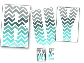 Chevron Pattern Letters