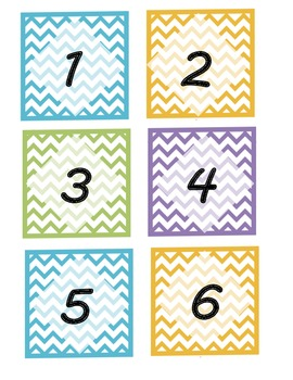 Chevron Pattern Mailbox Labels/Number Labels