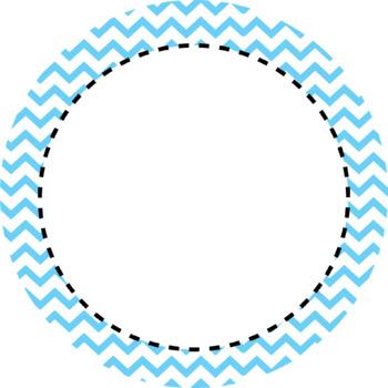 Chevron Pattern Round Labels