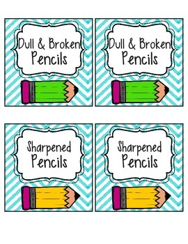 Chevron Pencil Signs (Sharpened and Dull & Broken)
