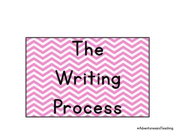 Chevron Pencil Writing Process Clip Chart {Writer's Workshop}