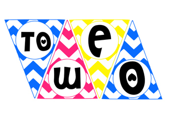 "Chevron Pennant Banner ""Welcome to ___ Grade"""