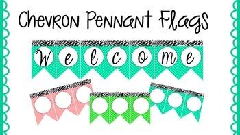 Chevron Pennant Flags