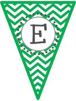 Chevron Pennants- Welcome to 1st-9th Grade!