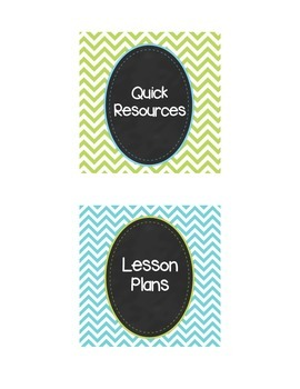 Chevron Personal Use - Classroom Labels