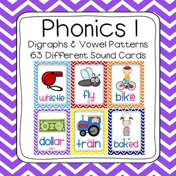 Chevron Phonics 1 Sounds Poster Set (63 sounds)