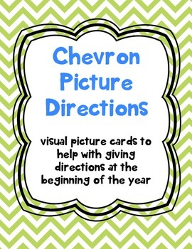 Chevron Picture Directions for the Beginning of the Year
