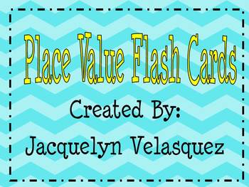 Chevron Place Value Flash Cards