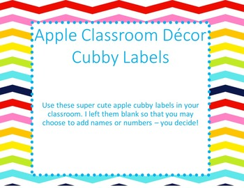 Chevron & Polka Dot Apple Labels
