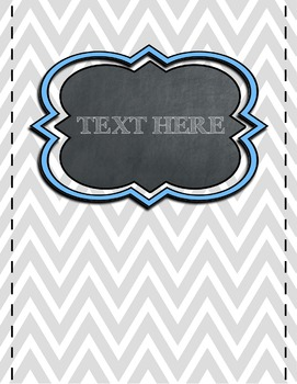 Chevron & Polka Dot Chalkboard Binder Cover & Side Spine Labels {EDITABLE}