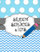 Chevron & Polka Dot Teacher Organization Binder