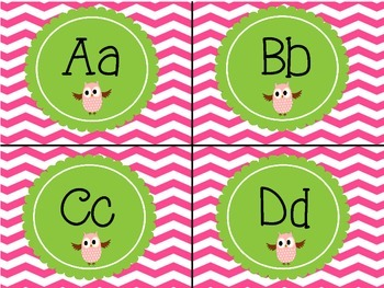 Word Wall Letters - Chevron & Polka Dot