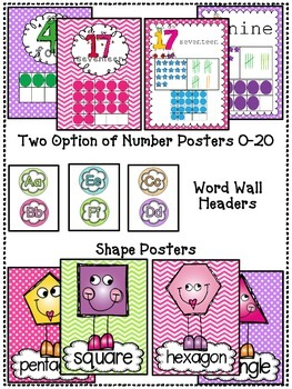 Chevron & Polka Dots Classroom Posters Pack