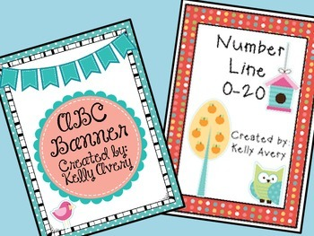 Alphabet and Number Line - Owl Themed