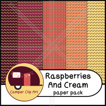 Chevron & Polka Dots Paper Pack, Raspberries and Cream Glitter {CU - ok!}