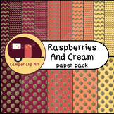 Chevron & Polka Dots Paper Pack, Raspberries and Cream Gli