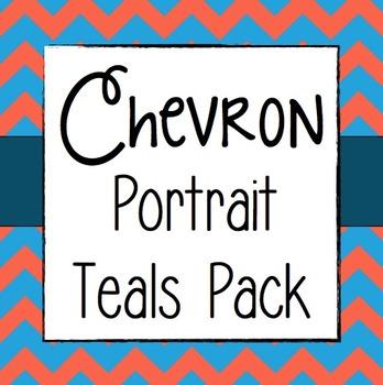 Chevron Portrait Teals Pack