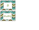 Chevron Pre Primer Dolch Sight Word Wall