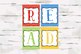 Chevron Primary Color READ set for your Classroom or home, 8x10 jpgs