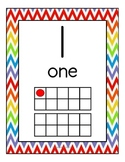 Chevron Primary Themed Manuscript Number Posters (1-20)