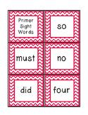 Chevron Primer Sight Word Cards