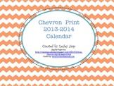 Chevron Print 2013-2014 Calendar