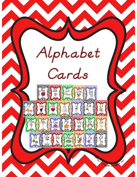 Chevron Print Alphabet Cards