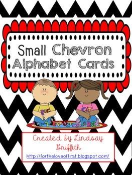 Chevron Print Alphabet Cards