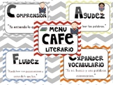 Chevron Print CAFE signs in spanish!