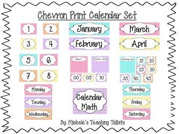 Calendar Set: Chevron Print