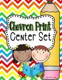 Chevron Print Center Set
