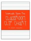Chevron Print Classroom Clip Chart for Behavior Management