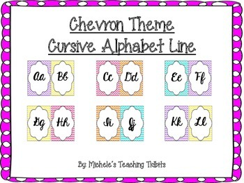 Alphabet Line: Chevron Print Cursive