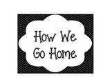 How We Go Home Chart: Chevron Print