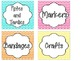 Chevron Print Labels and Tags