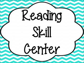 Literacy Center Signs: Chevron Print