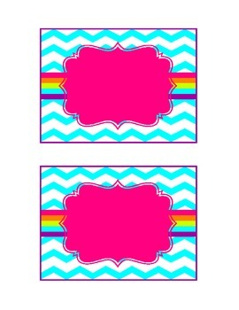 Chevron Print Literacy Library Labels