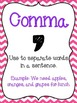 Punctuation Posters: Chevron Print